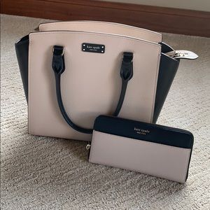 Kate Spade Jeanne Satchel and Matching Wallet